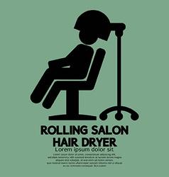 Rolling Salon Hair Dryer vector