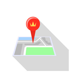 royal palace map pin icon flat style vector image