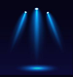 scene illumination on a dark background bright vector image