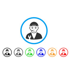 service operator rounded icon vector image