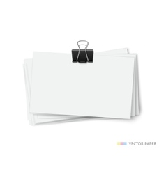 stack blank white business cards vector image