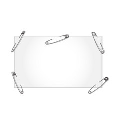 template with safety pin vector image