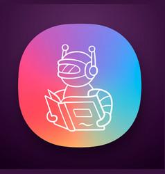 Text reading bot app icon screen reader app vector