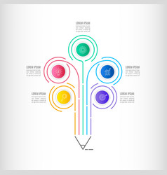 timeline infographic business concept with 5 vector image