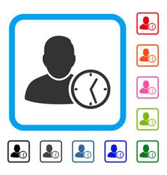 User temporary clock framed icon vector