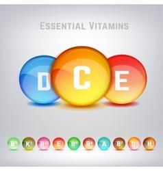 Vitamins Set Image vector