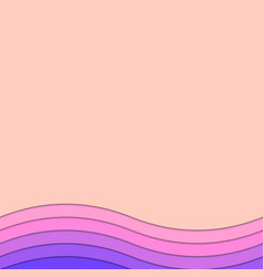 Wavy background from layer stripes - document vector