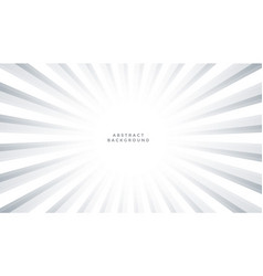 white background with sun rays burst design vector image