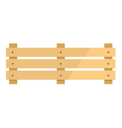 Wide fence icon flat style vector