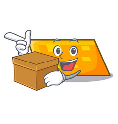 with box parallelogram character cartoon style vector image