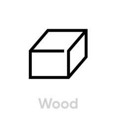 wood recycling icon editable line vector image