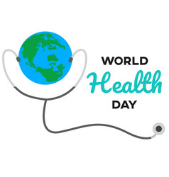 world health day text with white background vector image