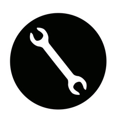 Wrench tool or spanner equipment construction vector
