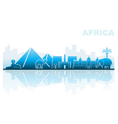 attractions africa abstract landscape vector image