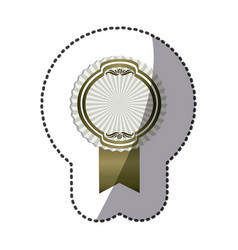 gray emblem with symbols inside icon vector image