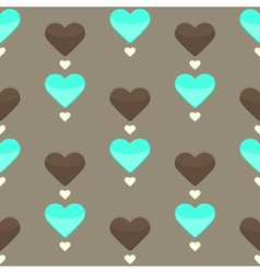 Seamless pattern with many colorful hearts vector image