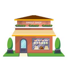 sweet shop facade isolated icon vector image