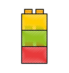 Toy blocks structure icon vector