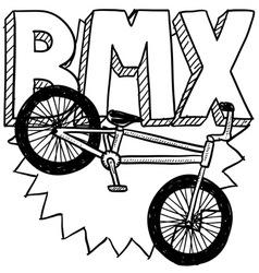 BMX vector image vector image