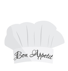 Chef hat with text bon appetit vector image vector image