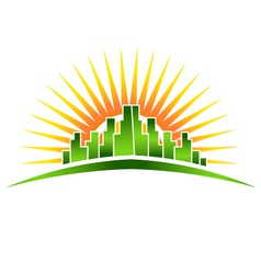 Skyline Sunshine vector image