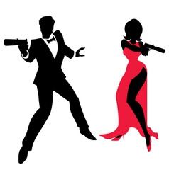 Spy Couple vector image vector image