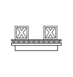 band conveyor equipment vector image