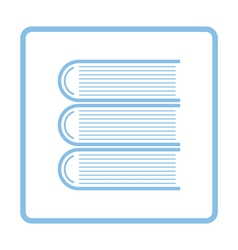 Stack of books icon vector image