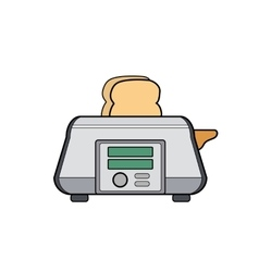 Symbol toaster Icon for web site Line art vector image vector image