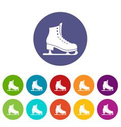 skates set icons vector image