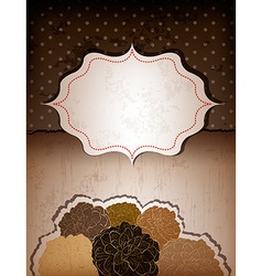 Vintage Brown Backdrop with Frame vector image