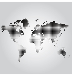 World Map with dots of different sizes vector image