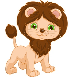 young lion vector image