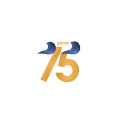 75 years anniversary celebration gold elegant vector