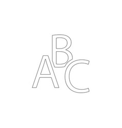 abc flat icon vector image