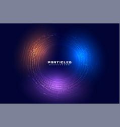 Abstract circular particles digital futuristic vector