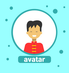 asian man avatar icon chinese male in traditional vector image