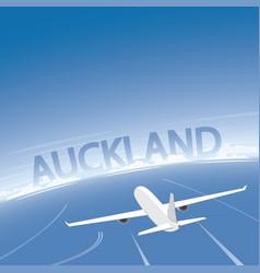 Auckland flight destination vector