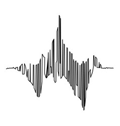 Audio equalizer tune icon simple black style vector