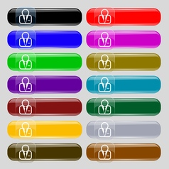 Avatar icon sign Set from fourteen multi-colored vector image
