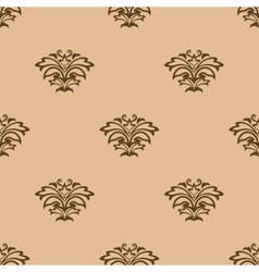 Beige floral seamless pattern background vector image
