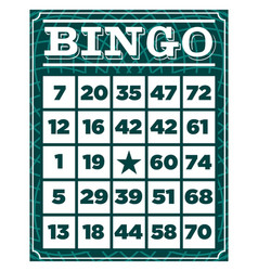 Bingo retro vintage card vector