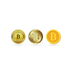 bitcoin set the physical bit is a coin digital vector image