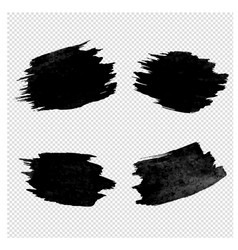 black blobs collection transparent background vector image