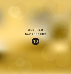 Blurred abstract gradient background gold vector image