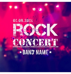 Blurred background with rock stage and crowd Rock vector
