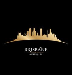 Brisbane australia city silhouette black vector