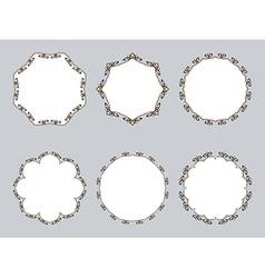 calligraphic round frame vector image