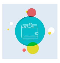 cash finance money personal purse white line icon vector image