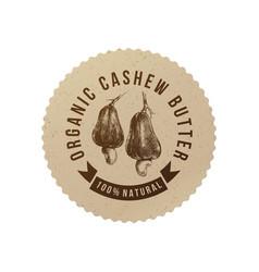 Cashew butter emblem vector